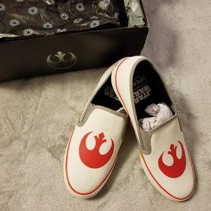 Sperry Pier Side Rebel White Star Wars Slip-Ons